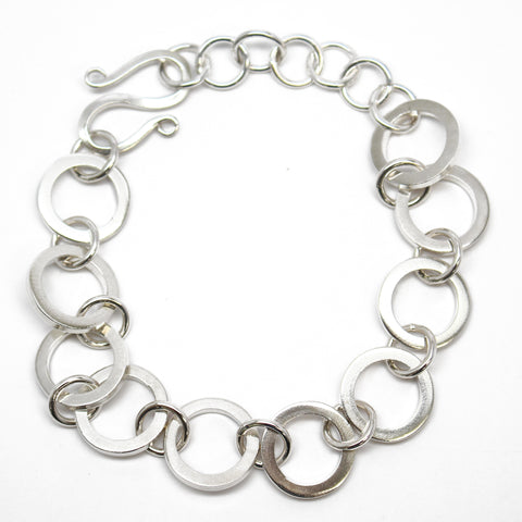 Handmade Chunky Round Sterling Silver Chain Bracelet