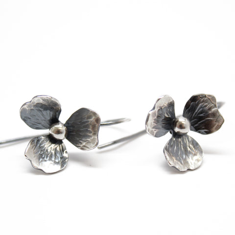 Dainty Sterling Silver Flower Earrings
