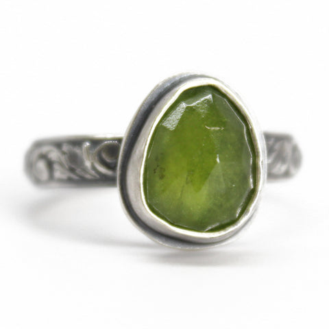 Vesuvianite Ring in Sterling Silver