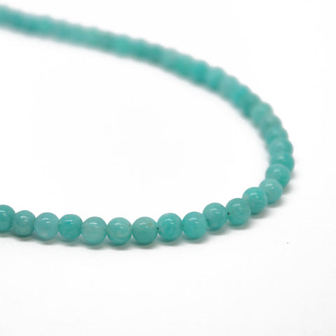 Amazonite Bead Necklace with Sterling Silver Clasp