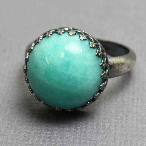 natural amazonite gemstone rings info large information and silver ring jewelry gold