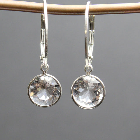 Arkansas Ice Quartz™ Earrings with Sterling Silver Lever Backs
