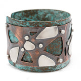 Copper and Silver Cuff Bracelet
