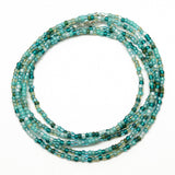 Blue Green Seed Bead Necklace
