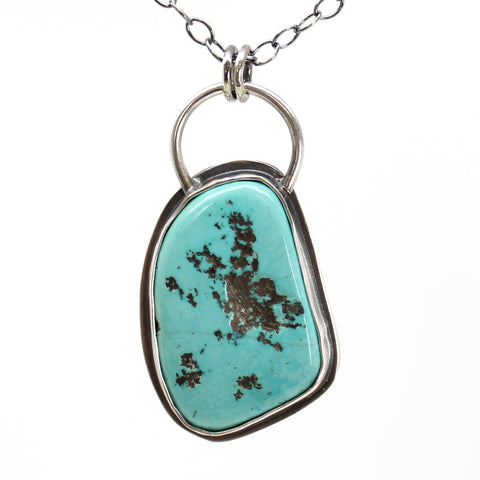 Blue June Turquoise Pendant in Sterling Silver
