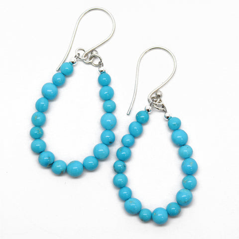 BlueBird Turquoise Teardrop Earrings