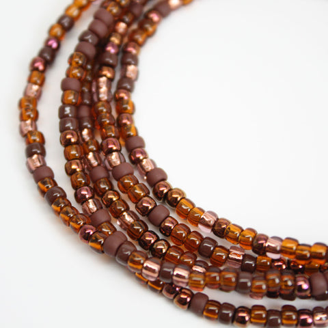 Brown Seed Bead Necklace