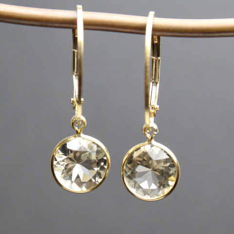 Oregon Sunstone Gold Filled Lever Back Earrings