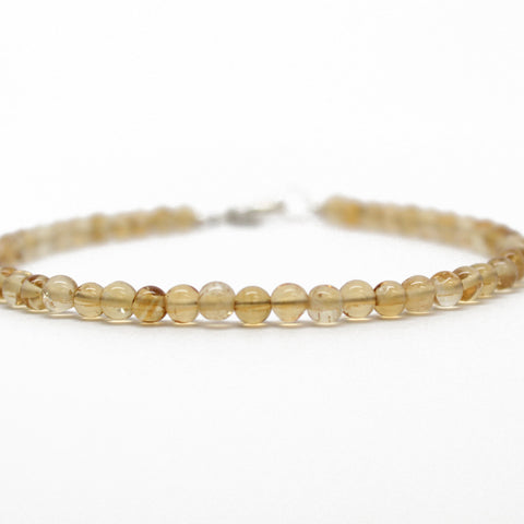 Citrine Bracelet with Sterling Silver Clasp
