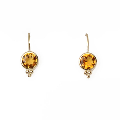 Citrine Drop Gold Filled Earrings