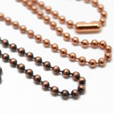 Copper Bead Ball Chain Bracelet or Necklace, 3.2mm