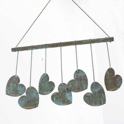 Copper Heart Mobile, Copper Heart Wind Chime