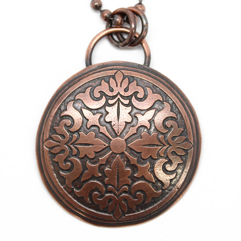 Copper Mandala Necklace
