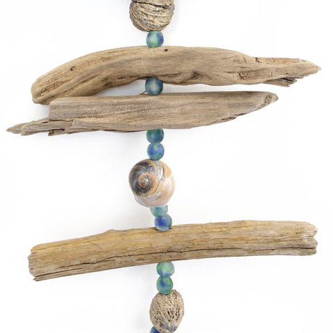 Driftwood and Shell Mobile, 44 Inches Long