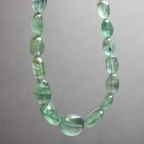 "Emerald Bead Necklace Strand-16"" Long"