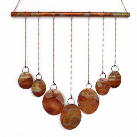 Copper Wind Chime with Ovals