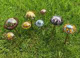 Fused Glass Mushrooms