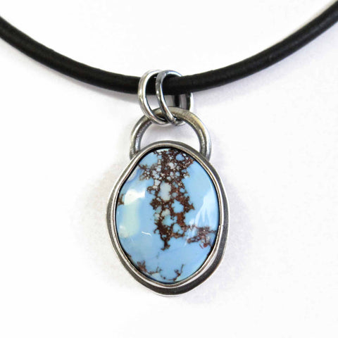 Golden Hill Turquoise Pendant Necklace in Sterling Silver