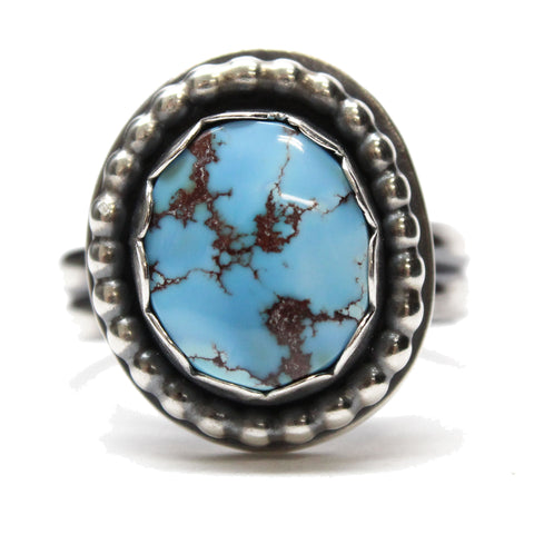 Golden Hills Turquoise Ring Size 8.5 US