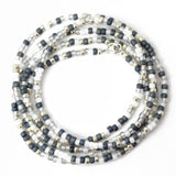 Grey and Silver Seed Bead Necklace