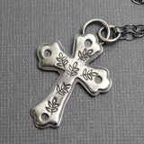 Sterling Silver Cross with Vines Pendant
