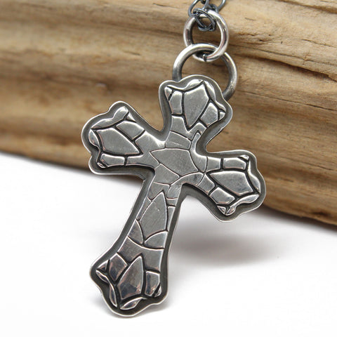 Handmade Sterling Silver Cross Pendant Necklace