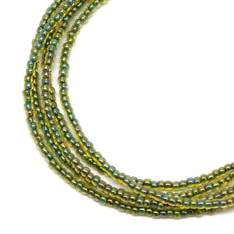 Jonquil Green Seed Bead Necklace
