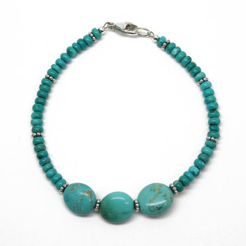 Kingman and Campitos Turquoise Bracelet, 7.25 Inches