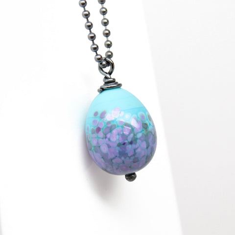 "Easter Egg Pendant Necklace ~ 16"" Long"