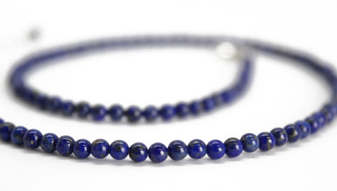 All natural Lapis bead Choker