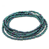 Metallic Blue-Single Strand Necklace