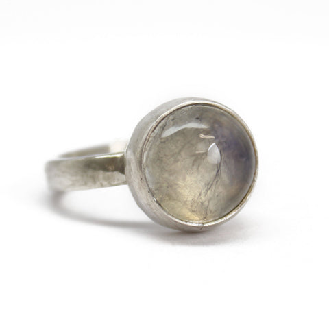 Moonstone Ring in Sterling Silver, Size 8.5 US