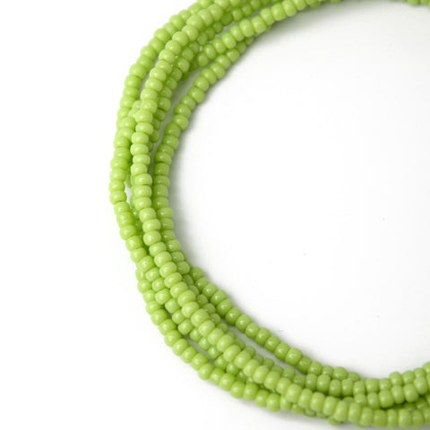 Sour Apple Green Seed Bead Necklace