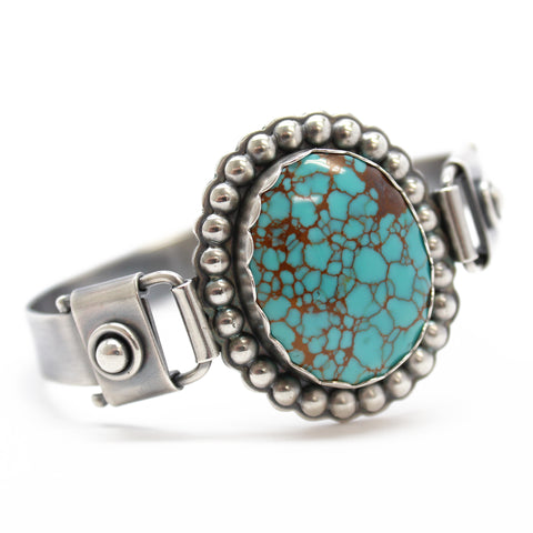 Pilot Mountain Turquoise Bracelet in Sterling Silver
