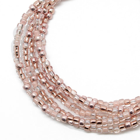 Rose Gold Color Seed Bead Necklace