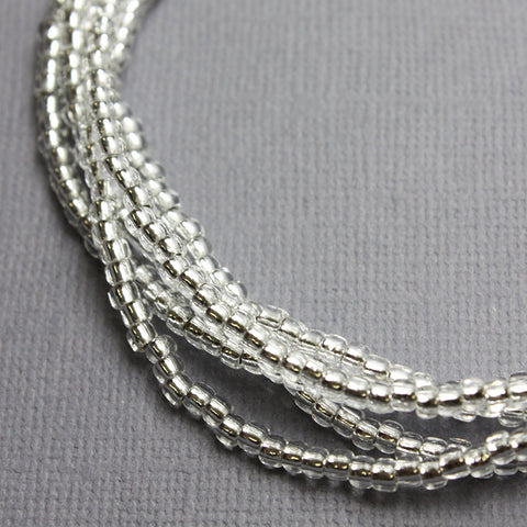 Silver Seed Bead Necklace