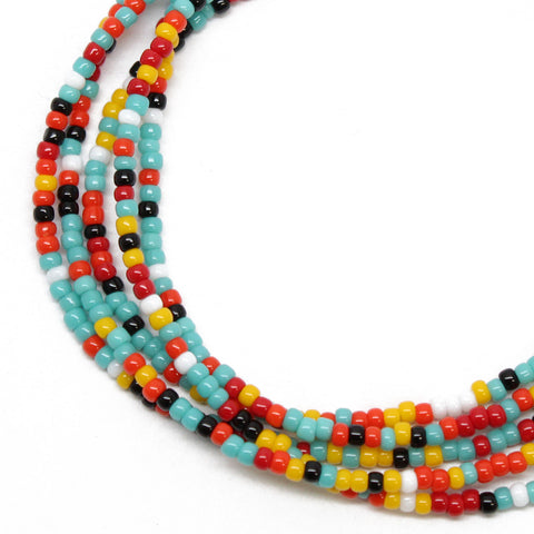 Southwestern Seed Bead Necklace-Single Strand