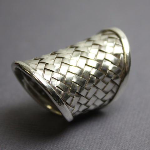 Tribe Hill Sterling Silver Basket Weave Ring