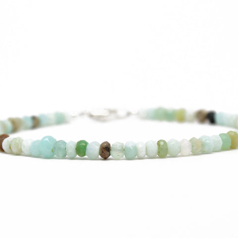 Peruvian Opal Bracelet with Sterling Silver Clasp