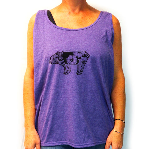 Oragami Bear Women's Tank