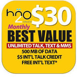 H20 GSM monthly unlimited