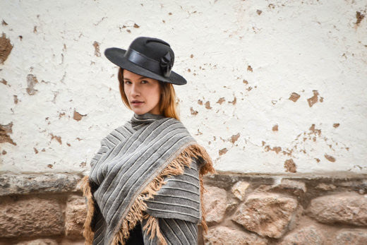 Our Angelina Alpaca Wrap is perfect for Fall Fashion