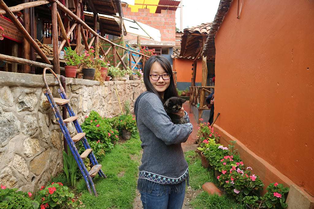Welcome Zhen Fu, Operational Assesment Volunteer at Threads of Peru!