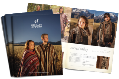 Announcing the Launch of Threads of Peru's 2013 Wholesale Catalogue!