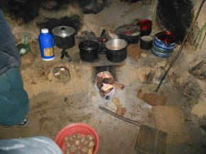 Cooking the evening meal