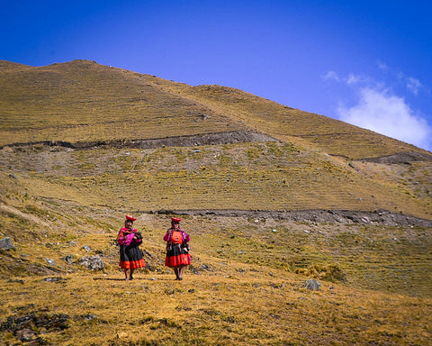 Walking down from the high Andean community of Chaullachoca