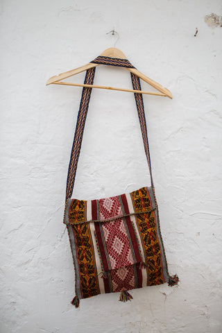 Awaq alpaca peruvian shoulder bag