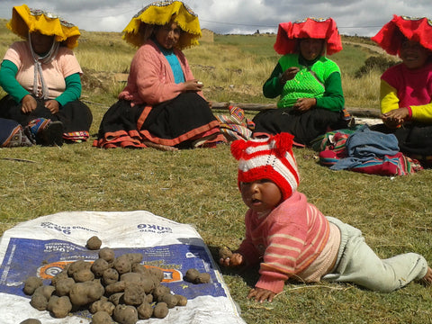 Baby in Andean community