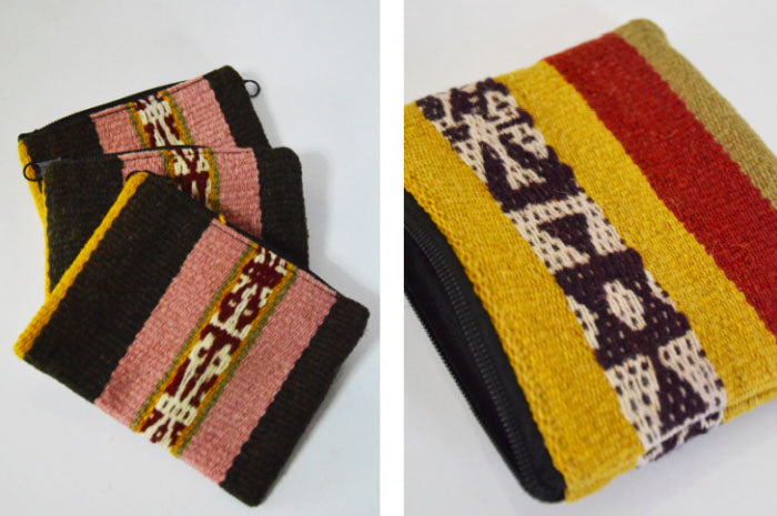 The Q'ello and Q'omer coin purses are essential for travelers carrying currency of any kind in their handbag or pocket