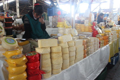 The selection of chesse is endless here in Cusco. Photo by Harrison Ackerman